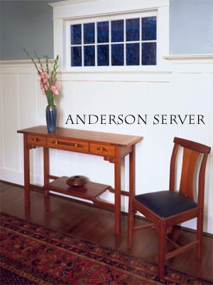 Anderson Server shown with Strand Side Chair