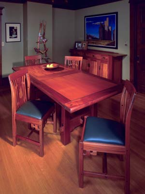Dining room furniture by Thomas Stangeland.